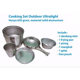 Cooking Set Nesting Langseng Ultralight All in One Masak Nasi di Gunung Camping Hiking