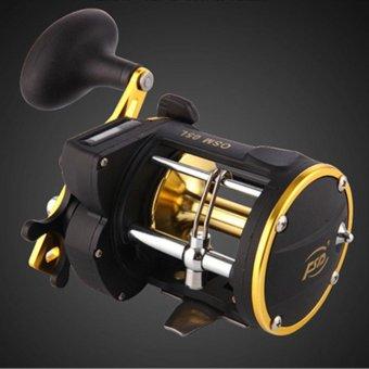 Counter Alarm Bell Spinning Reel Drum Fishing Vessel Trolling Boat Plate Baitcast Wheel - intl