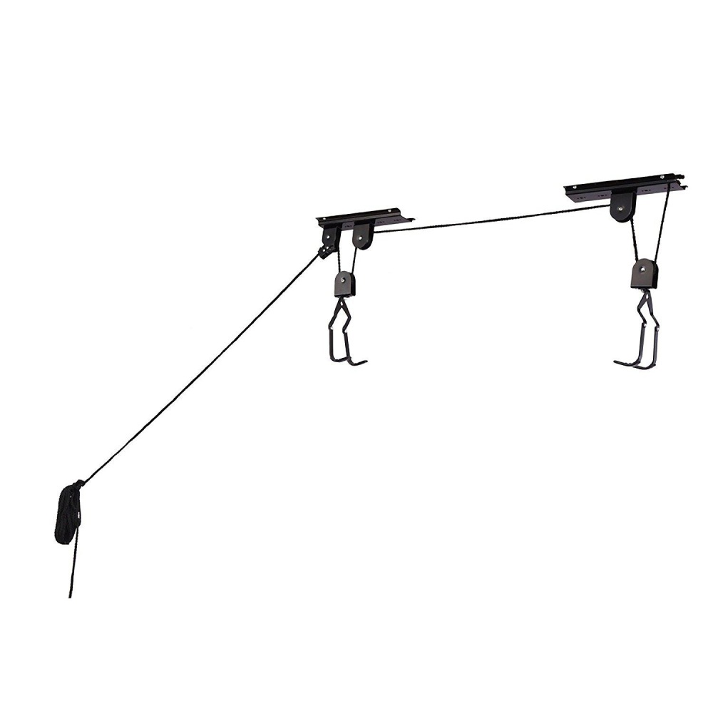 ... Cycle Products Bike Lift Hoist Garage Safe Pulley Bicycle HangerCeiling Hook Bicycle Accessories Color:Black ...