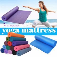 DapurBunda Matras Yoga Anti Selip Kualias Bagus / Matras Yoga Tebal 7Mm / Matras Olahraga - ORANGE