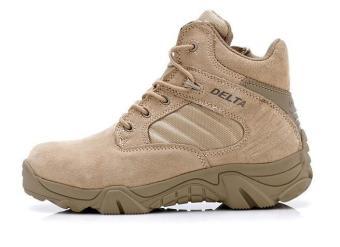 Dbest Kudastore - Sepatu Boot Hiking Delta High Quality Outdoor -Warna Gurun
