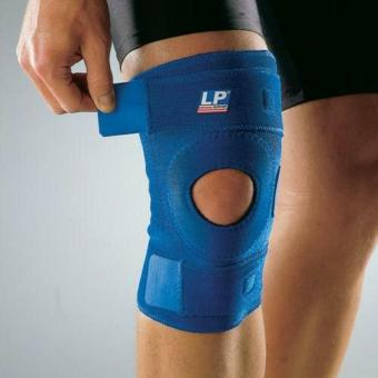 Deker Lutut LP 758 Open Patella Knee Support - Biru
