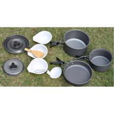 DS 300 Cooking Set Pendaki Masak saat Camping Teflon Ringan Kuat Lengkap