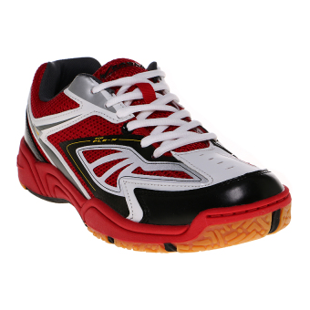 Eagle Cybertooth Sepatu Badminton - Dark Redd-White-Black
