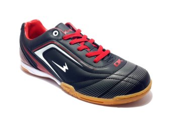 Eagle New Ventura Sepatu Futsal - Black Dark Red White