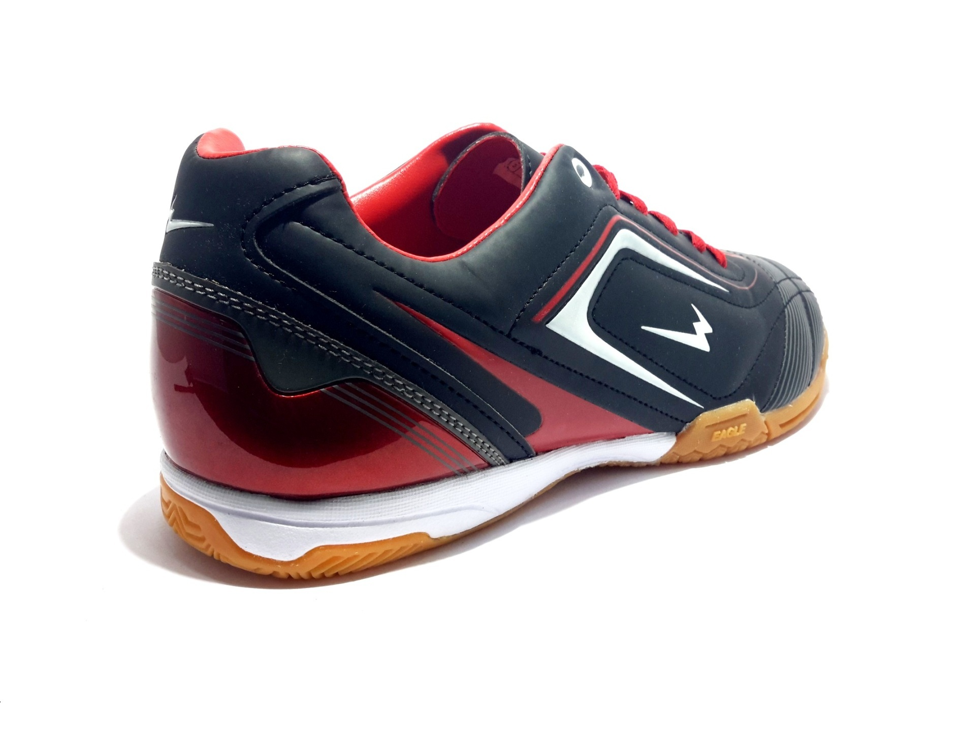 Eagle New Ventura Sepatu Futsal Black Dark Red White