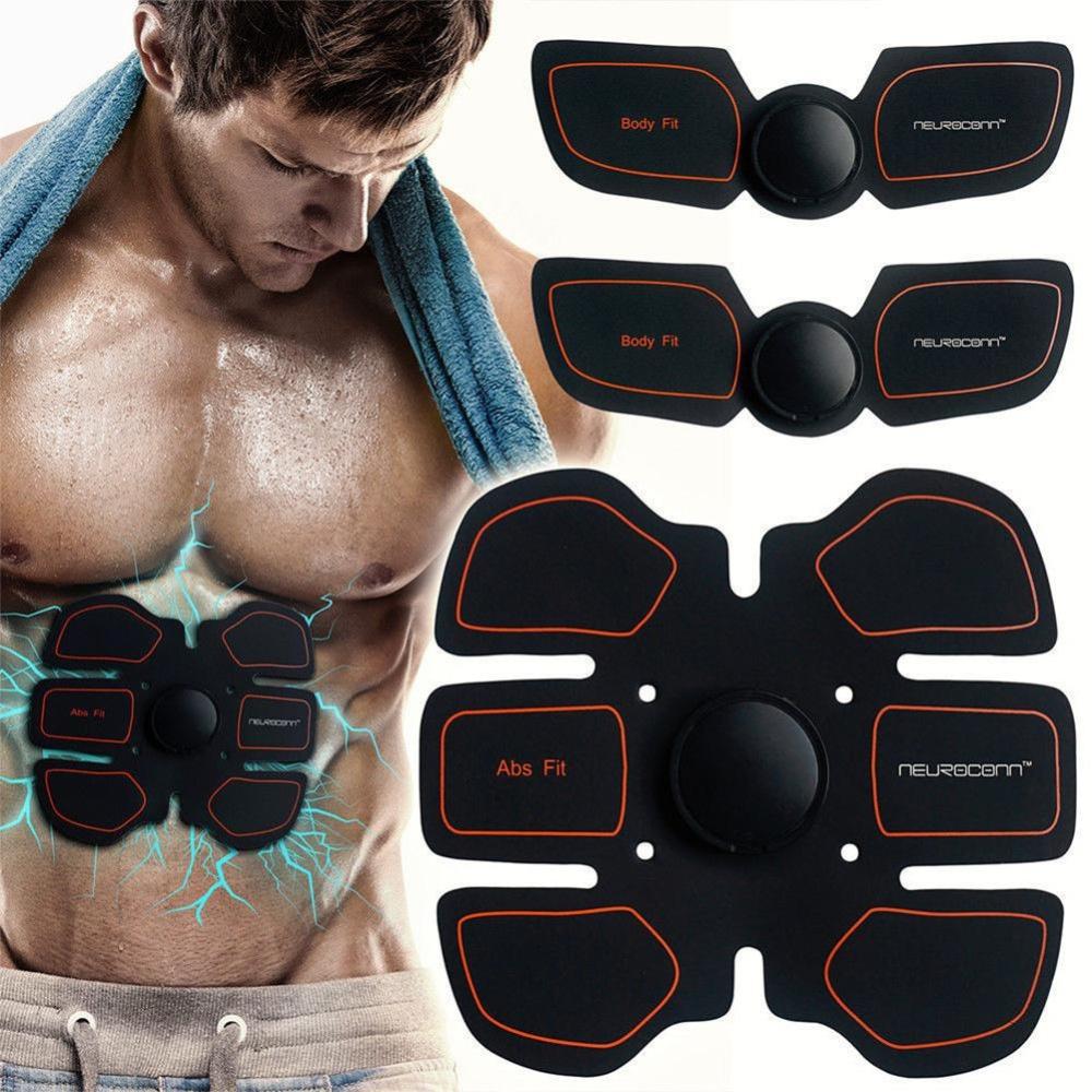 Warna: Seperti gambar EMS Otot Perut Fit Training Gear ABS Body Exercise Fitness Bentuk Pesan Perangkat-Orange (