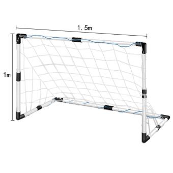 Jaring Sepak Bola Olahraga Luar Ruangan Praktek Pelatihan Alat 1.5 m X 1 m