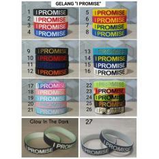 Gelang Basket Nba I Promise / Gelang Karet/Ballerband/Couple/Import - 73A3B6