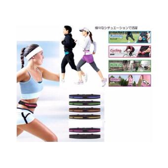 GO BELT BREWYN- belt/ikat pinggang multifungsi untuk sport/travelling - STRIPE BLUE