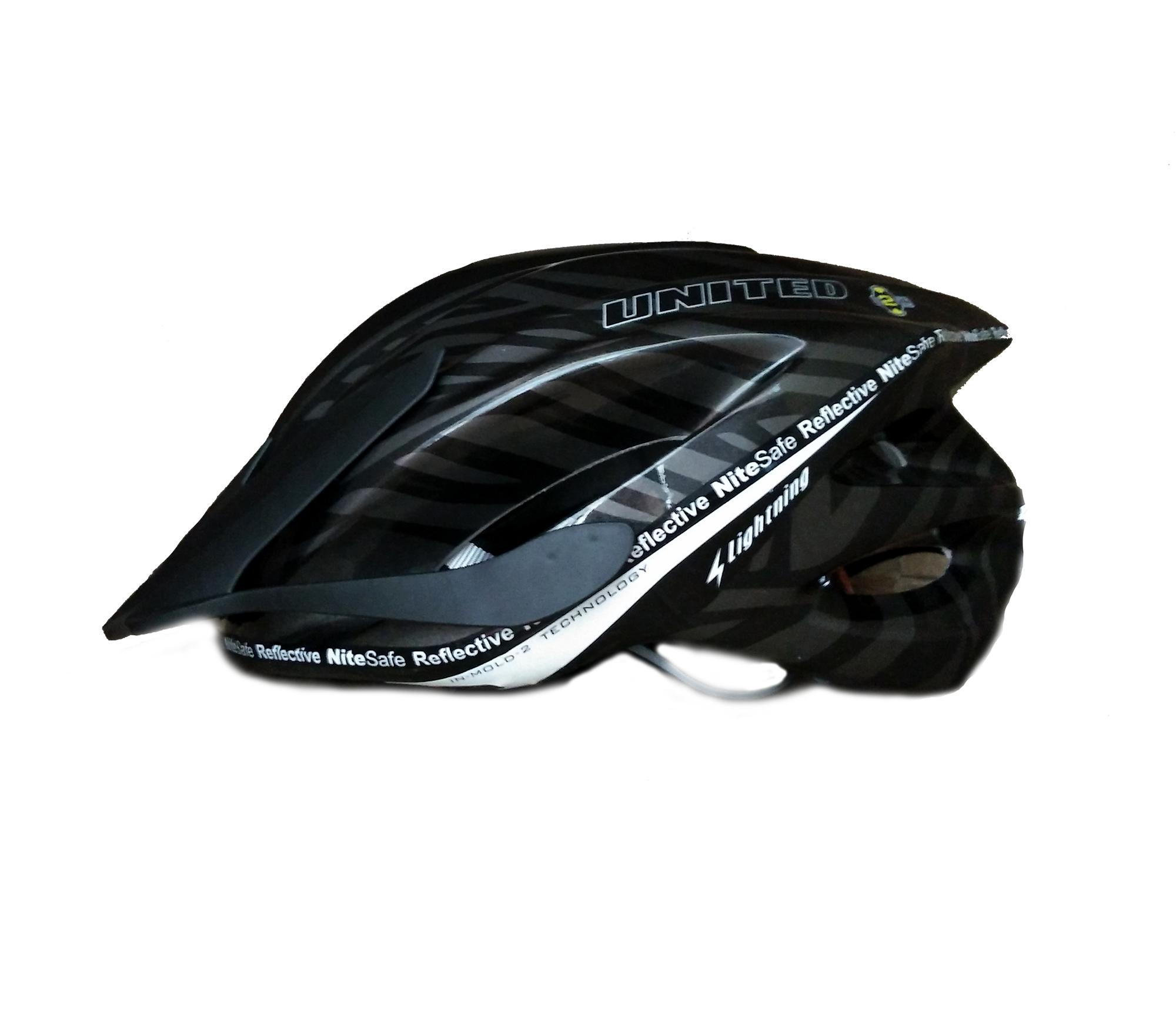 ... Helm Sepeda United F38 Bike Helmet   Helm Sepeda - Hitam Glossy ... 174bb063e4