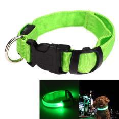 HOT LED Anjing Keselamatan Di Malam Hari Hewan Peliharaan Flashing Light Adjustable Nilon Tali Leher H-Intl