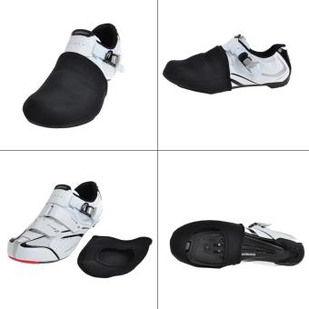 Harga leegoal Outdoor Cycling Windproof Shoes Toe Cover Thermal Protect Bicycle Short Shoe Covers