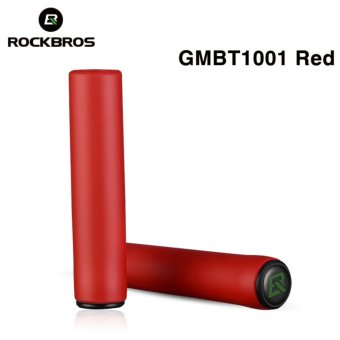 Harga Rockbros Cycling Grips Mountain Road Bicycle Handle Grip Bike Lock Silicone Sponge Handlebar Soft Ultraight Grips Anti-skid Shock-absorbing Two Styles(GMBT1001 Red) - intl