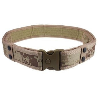 Outdoor Tactical Belt Adjustable Unisex Canvas Belt Camo Waistband for Field Training Hunting Sport - intl