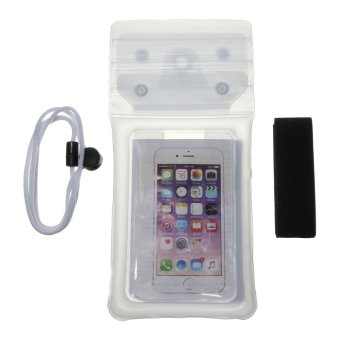 Harga EOZY Universal Sealed Waterproof Bag Case Pouch Phone Cases For 3.5-6 Inch Phones (White) - Intl
