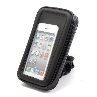 Harga Motorcycle Bike Handlebar Holder Mount Waterproof Bag Case for Mobile Phone GPS - intl
