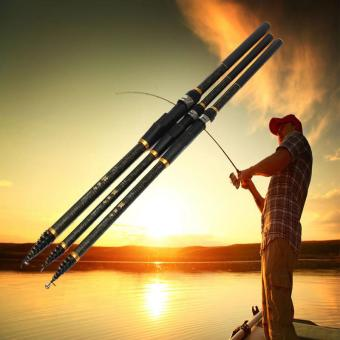 Harga New Arrival Hot Sale 4.5meters Carbon Superhard Fishing Rod Ocean Rock Fshing Rod - intl