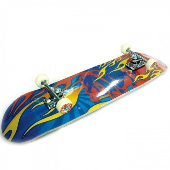 Harga Silverfox Skateboard Maple Fire - Biru