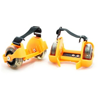 Harga TSH Flashing Roller Skate Heel Skate 2 Roda Light - Orange