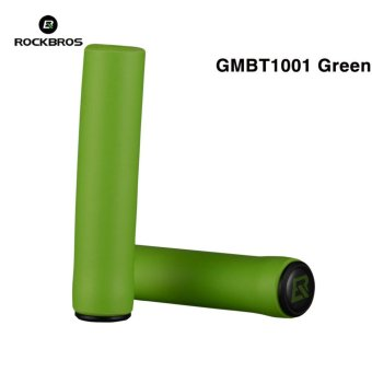 Harga Rockbros Cycling Grips Mountain Road Bicycle Handle Grip Bike Lock Silicone Sponge Handlebar Soft Ultraight Grips Anti-skid Shock-absorbing Two Styles(GMBT1001 Green) - intl