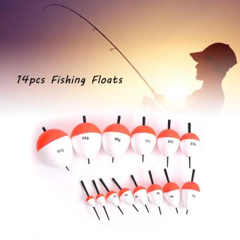 Harga 14pcs Fishing Floats Set Saltwater Freshwater Fishing Buoys Floats Balls with Stick - intl