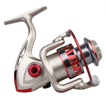 Harga 2015 High Quality Golden Reel Spinning Fishing Reel Fixed Spool Reel 10 BB +Retrieval Ratio 5.5:1 Coil Fishing