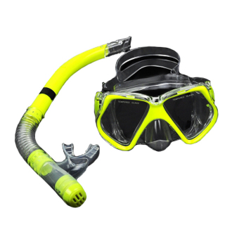 Harga Yika Scuba Diving Mask + Dry Snorkel Gear Kit (Yellow)
