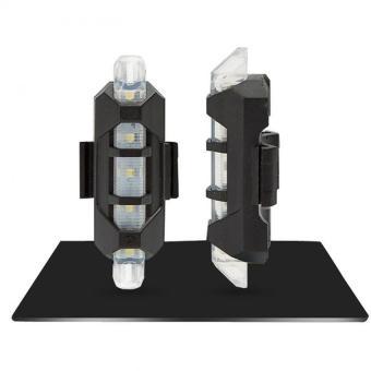 BUYINCOINS NEW 5 LED lampu sepeda bersepeda ekor adaptor isi ulang merah lampu peringatan sepeda -