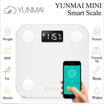 Harga Original YUNMAI MINI Smart Weighing Scale Support Android 4.3 iOS7.0 Bluetooth4.0 Losing Weight Digital Scale Body Fat Scale (Blue) - intl
