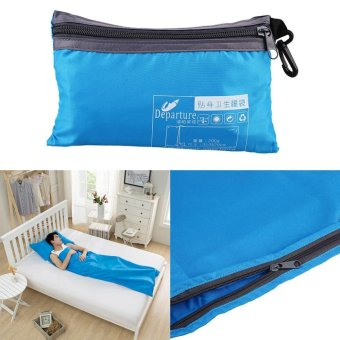 Adults Spring/Autumn Sleeping Bag Liner Single Sack Blanket For Camping Hiking - intl