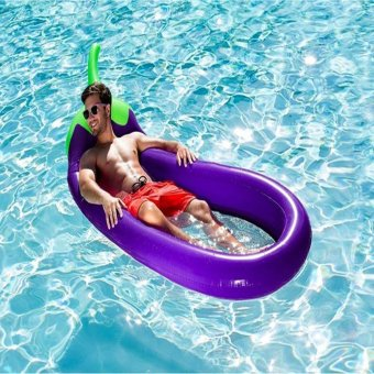Harga leegoal Eggplant Swimming Pool Float Hammock, Inflatable Swimming Pools Lounger, Water Hammock Lounge - intl