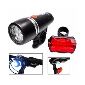 Harga Senter Sepeda / Powerbeam Water Resistant 5 LED Bicycle Head Light