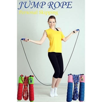 Harga Jump Rope Skipping Soft Handle with Counter / Tali skiping alat hitung