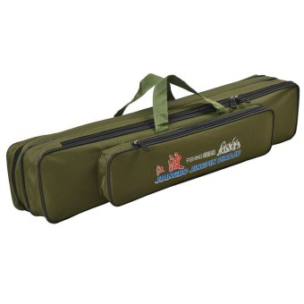 Harga Fishing Rod Holdall Bags Fishing Organizer Tackle Rod Carry Case Green 70cm - intl
