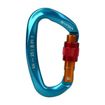 Safety Master Lock D Shape Buckle Mountain Rock Climbing Lock Carabiner - intl