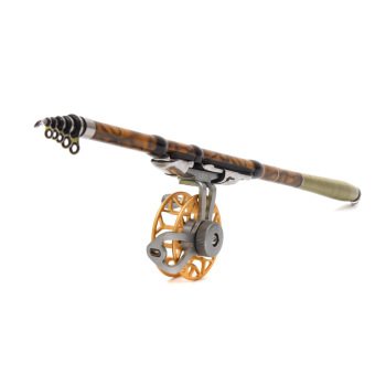 Harga 3.6M Portable Rock Fishing Pole Telescopic Carbon Fishing Rod