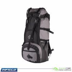 Inficlo Tas Gunung Hiking Camping Advanture Ransel Backpack Carrier 45L Waterproof - Grey