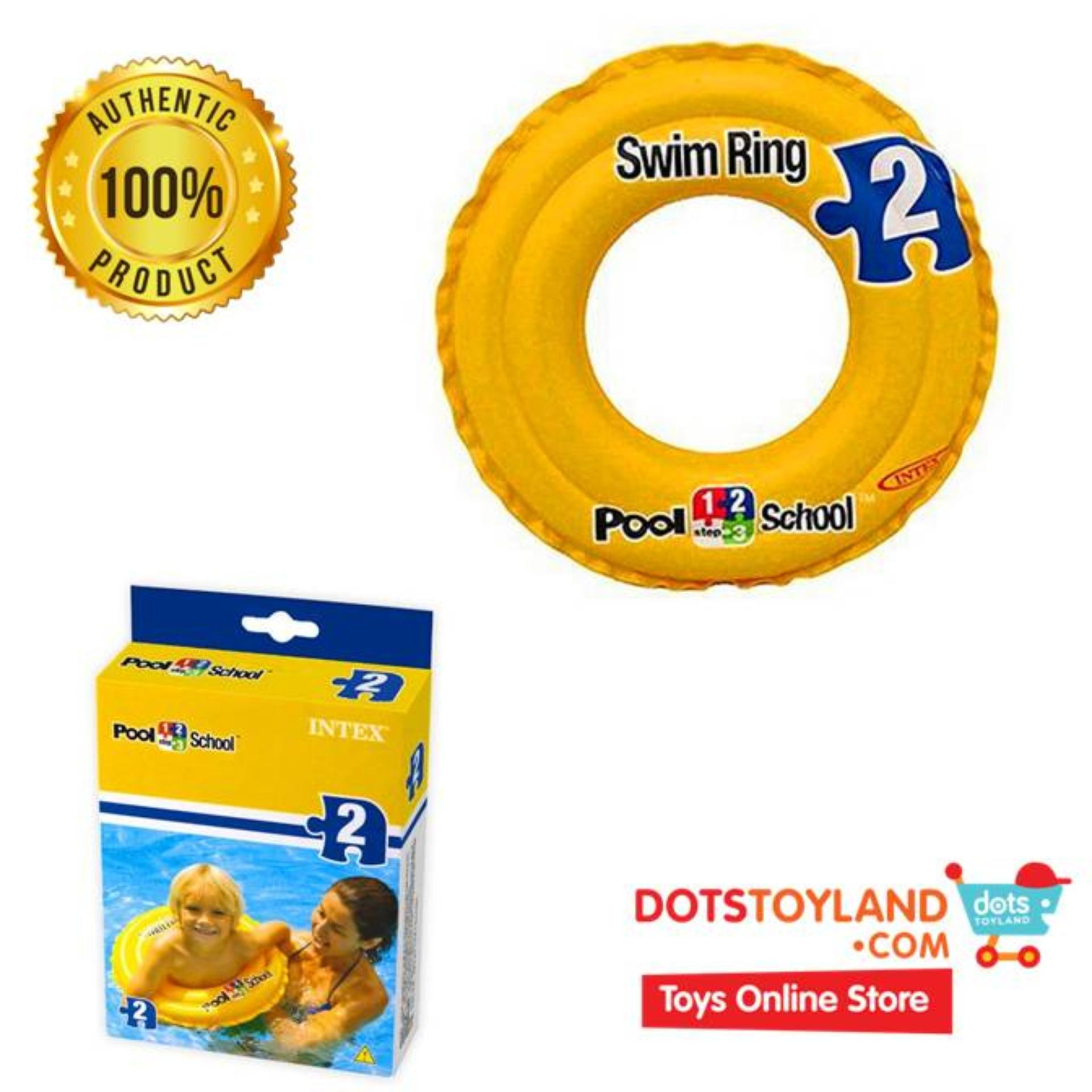 Hot Deals Intex Pelampung Anak Ban Renang Deluxe Swim Ring Pool 58231