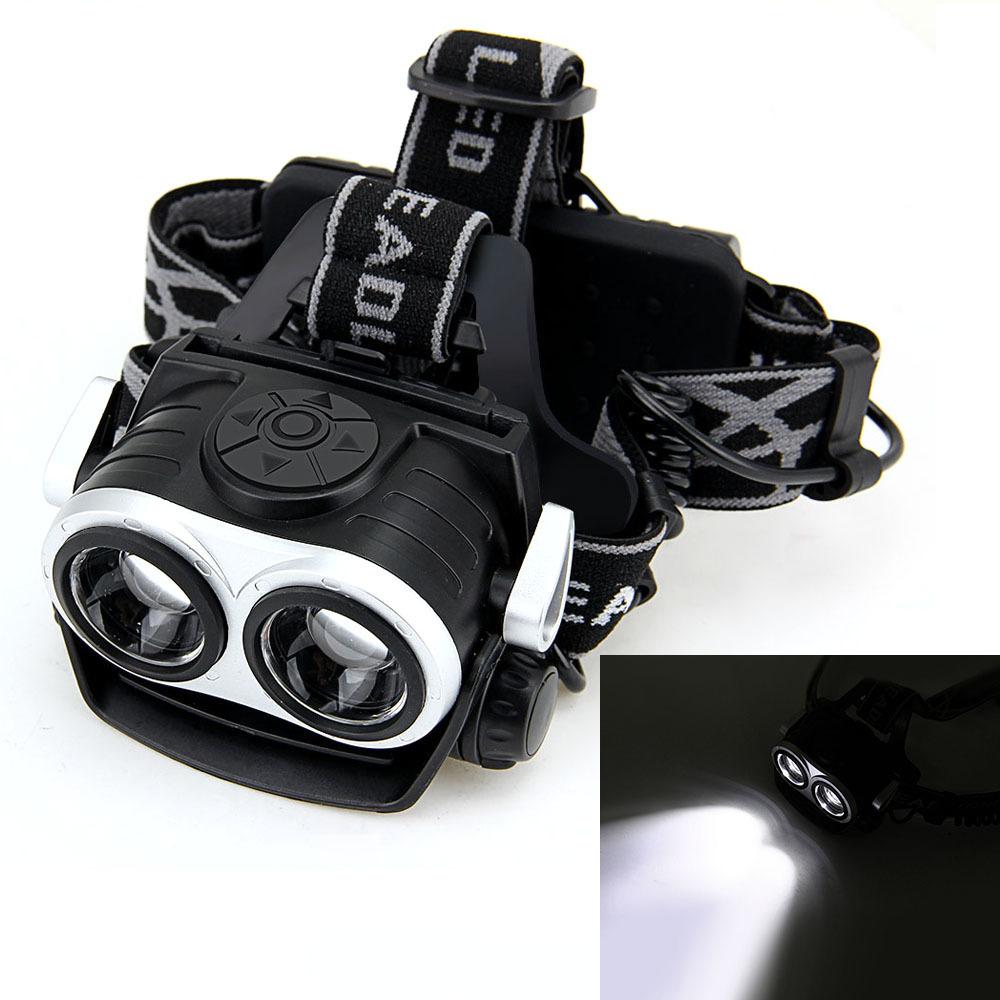 ... Isi ulang 5000 lumen XM-L T6 2 lampu depan LED 3 mode lampu kepalalampu ...