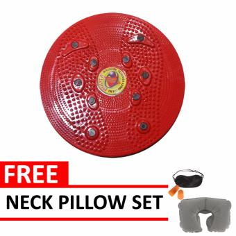 Jogging Plate Red Free Neck Pillow Set