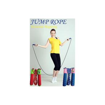 Jump Rope Skipping Soft Handle with Counter / Tali skiping alat hitung