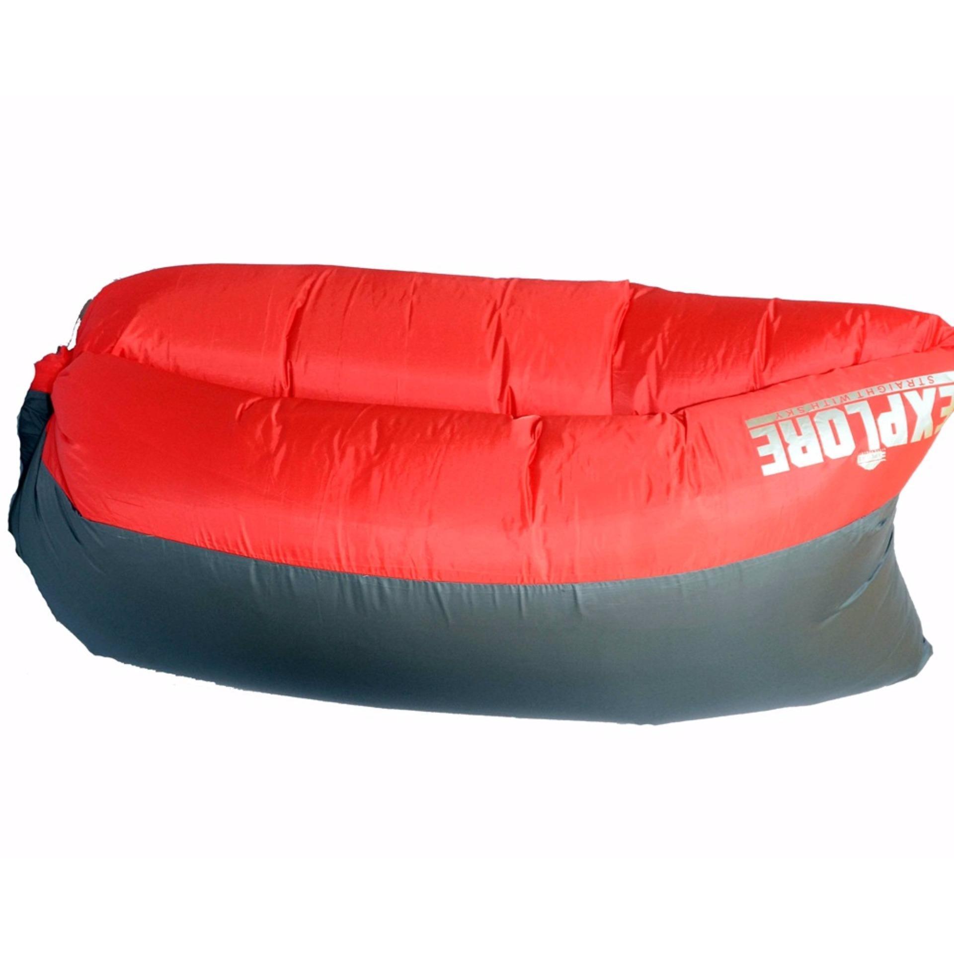 Periksa Peringkat Kasur Tiup Alat Ourdoor Air Bed Lazy Lay Pelampung Bag Bean