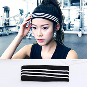 HARGA Kebugaran rajutan wol hip-hop hip-hop surat headset yoga karet rambut MURAH