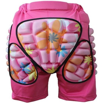 Kids Boys Girls 3D Protection Hip EVA Paded Short Pants ProtectiveGear Guard Pad Ski Skiing Skating Snowboard Blue M Color:pinkSize:M - intl
