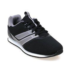 League Aaron Sepatu Lari Pria - Hitam-Putih-Cloudburst