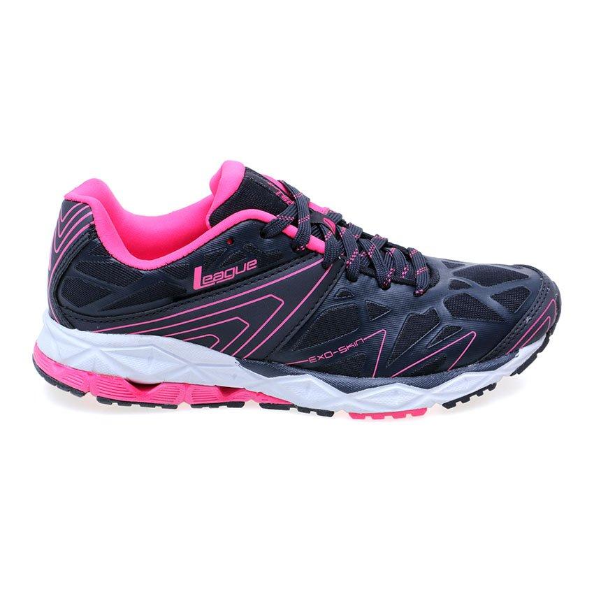 Online murah League Ghost Runner W Sepatu Running - Nine Iron - Pink ... 2220e64e9e