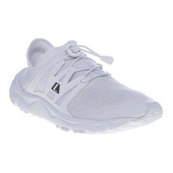 League Kumo Racer Cros Bar M Sepatu Lari - Putih-Hitam-Silver
