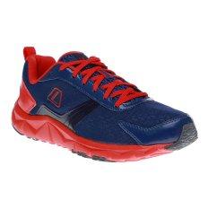 League Ventura M Sepatu Lari - Blue Depth-Flame Scarlet-Hitam