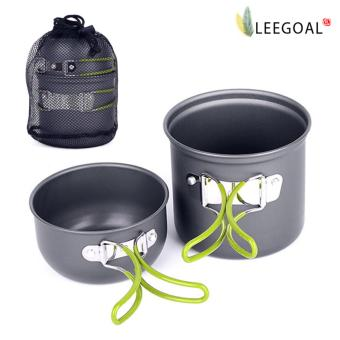 leegoalOutdoor Cooking Bowl Set Picnic Camping Backpacking Pot Pan Cookware(Grey)